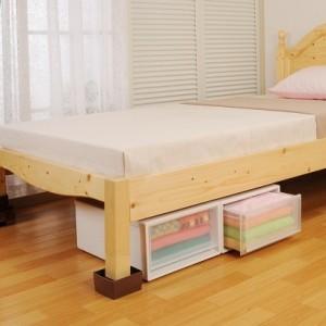 ベッドの高さをあげる足2